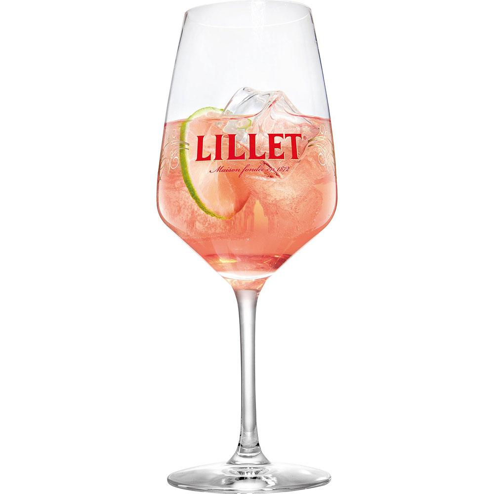 Lillet Rosé im Glas
