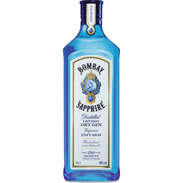 Bombay Sapphire East London Dry Gin 40% 1l